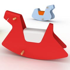 Rocky collection by PearsonLloyd      Made of bent ply, the rockers come in the shape of a seal, a whales and a dog.