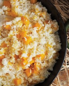 Squeamish Squash with Rice - For a rice dish of powerful trouble, add butternut squash to the boil and bubble.