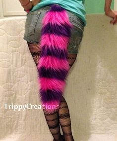 Fluffies pink and fluffie purple cheshire cat by TrippyDesigns