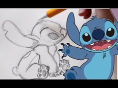 how to draw stitch from disney's lilo and stitch - lilo stitch drawing Doll Drawing, Cartoon Girl Drawing, Cartoon Kids, Cartoon Drawings, Drawing Tutorials For Kids, Easy Drawings For Kids, Disney Princess Drawings, Disney Drawings, Videos Anime