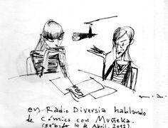https://flic.kr/p/nfzphj | Radiodiversia al aire comic | Billy Muñeka entrevistando a Marco Noregna en el programa  Alterarte de Radiodiversia