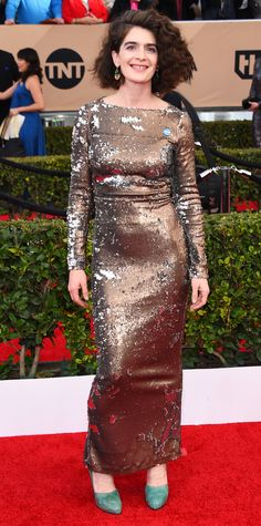 InStyle Fashion News Director Eric Wilson's Top 10 Best Dressed at the 2016 SAG Awards - Gaby Hoffmann in Rachel Comey  - from InStyle.com