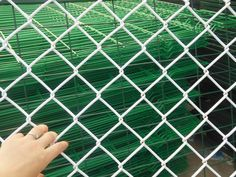 Decorative Galvanized Chain Link Fence for Security Usuage