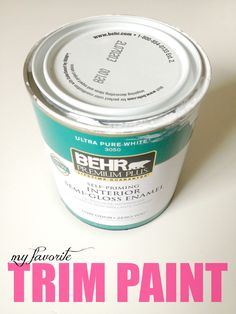 How to Paint Trim: a complete tutorial with everything you need to know about painting outdated trim.