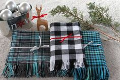 Make a Handmade Plaid Flannel and Fringe Scarf | eHow Crafts