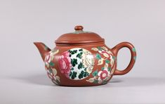 Good Chinese 19 Century Enameled Yixing Teapot Yixing Teapot, Chocolate Pots, Teapots, Cup And Saucer, 19th Century, Enamel, Chinese, Kettles, Coffee