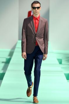 paul smith ss13 brown red and navy