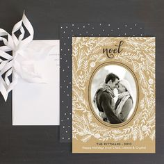 Send classic Christmas cards to friends and family.