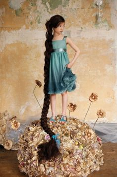 Two tone aqua pretty summer girls dress from I Love Gorgeous for spring 2015