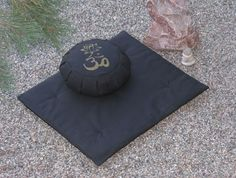 Zafu Zabuton Meditation Cushion Pillow set OM LOTUS by Inspirazen, $129.99