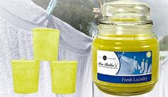 Mia Bella Fresh Laundry Candle - A wonderful scent that reminds you of clean clothing or bed sheets, fresh out of the dryer.