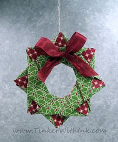 Tinker With Ink & Paper: Ornament #4: Origami Star Wreath