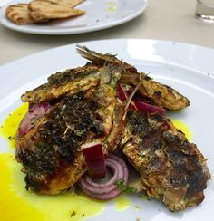 grilled fresh sardines - Greek Sardeles