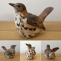 48 Ideas Bird Sculpture Inspiration For 2019 Clay Birds, Ceramic Birds, Ceramic Animals, Ceramic Art, Pottery Sculpture, Bird Sculpture, Pottery Painting, Pottery Art, Pottery Ideas