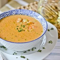 Shrimp Bisque. A classic soup made from an Ina Garten recipe that nails it.