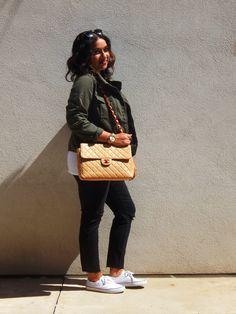 Utility Jacket + Black Ripped Jeans + Chanel Bag {weekend wear}