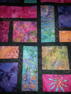 Great idea for quilting. - stained glass quilt
