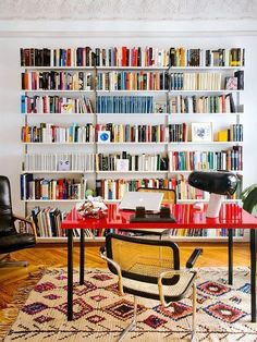 Colorful home library