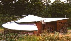 Daystar Steiner School Kindergarten. Double Helix Roof designed by Rainer Feick. Northern NSW Australia.