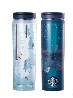 Starbucks Plastic Water Bottle 2017 Fall Collection 18 Fl Oz Twist Off Lid