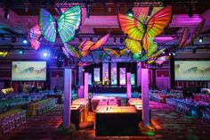 Butterflies Brighten Up Cavernous Event Space in Las Vegas - Photo: John Morris Photography #eventdecor #butterflies #eventprofs