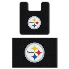 Pittsburgh Steelers Two Piece Bath Rug Set   Perfect For The Downstairs  Bathroom.