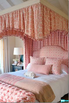 pink canopy bed // Kathryn Ireland