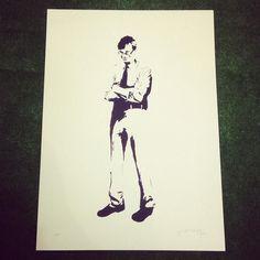 #TonyWilson from #Stewy available at #TheContemporary in #Chester http://ift.tt/1FGtfjs #art #contemporary #contemporaryart #modernart #popart #streetart #graffiti #stencil #hacienda #manchester #stewyart #stewystencil by the_contemporary_chester