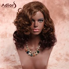 Adiors Long Side Parting Curly Fluffy Synthetic Wig #>=#>=#>=#>=#> Click on the pin to check out discount price, color, size, shipping, etc. Save and like it!
