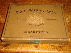 Vintage Philip Morris & Co LTD Cigarette Box English Blend London W.