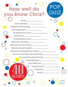 40 Blows GAME Questionnaire One Sheet Digital by PinkTexasPrint, $19 ...