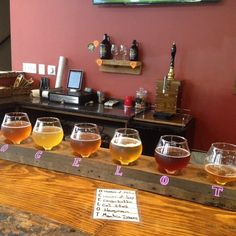 a delicious flight from one of our newest breweries in Loudoun: Ocelot Brewing Company!