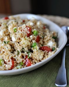Summer Couscous Salad. Substituted green onion for edamame.
