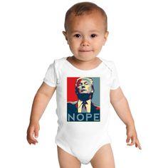 Nope Trump Baby Onesies