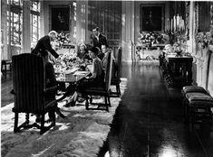 Morning Room Rebecca 1940 | Rebecca - Manderley - Dining Room | Life is not a movie... | Pinterest
