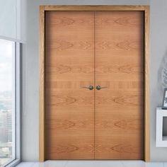 Sanrafael Lisa Flush Double Fire Door - Model K18 Cherry Prefinished. #internaloakdoubledoors #oakdoubledoors #doublefiredoors
