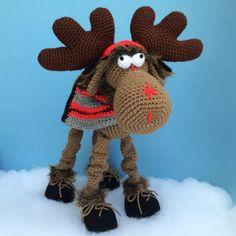 CLAUDE THE MOOSE Pdf Crochet Pattern