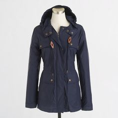 Navy Anchors with Fuschia Lining Women's Classic Rain Jacket ...