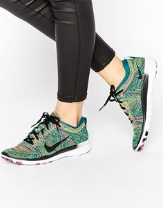 52a132dbf67 Nike Free TR Flyknit Green Trainers Sneaker Games