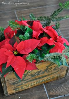 Vintage Crate Holiday Centerpiece