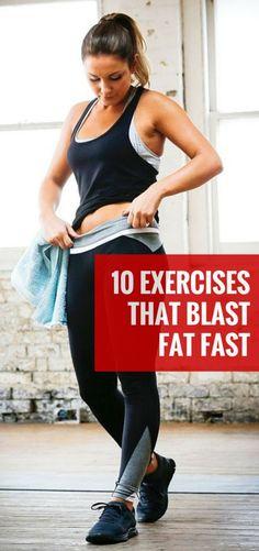 10 EXERCISES THAT BLAST FAT FAST