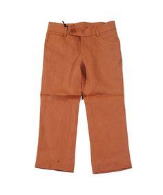 Euro Club Slim Fit Linen Pants Rust