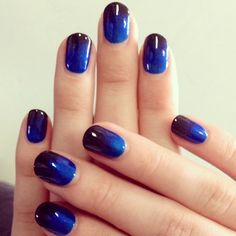 Show off your nails with this beautiful ombre nail design.