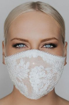 Coronavirus and face mask. Fitted lace multi-layer face mask featuring a corded lace, sparkle tulle underlay and delicate lace trim. Two adjustable straps ensure comfort and security while wearing. Diy Mask, Diy Face Mask, Mascara 3d, Lace Mask, Disco Ball, Fashion Face Mask, Mask Design, Mask Making, Marie
