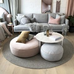 The Cullin Design - Round Ottoman (Various colours) – norsu interiors with a fur throw too Occasional Chairs, Floor Cushions, Design Your Own, Ottoman Design, Formal Living, Upholstery Diy, Round Ottoman, Ottoman, Furniture