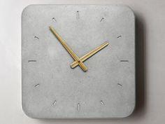 Concrete kitchen clock