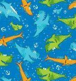 Blue Nautical Fabric Sharks Cotton Fabric, Ocean Fabric, Kids Coastal Fabric Coastal Fabric, Ocean Fabric, Nursery Fabric, Blue Shark, Sharks, Fabric Crafts, Nautical, Cotton Fabric, Crafty