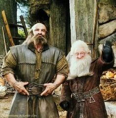 Dwalin and Balin. just look at how cute balin is! i want to hug him lol. and dwalin. *glomps* though not in this pic lol XD