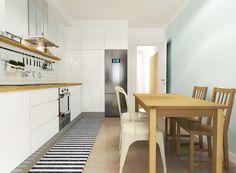 Casa do Pedro e da Sónia #study #render #kitchen #upcycled #storage #homedecor #cooking #furniture #interiors #interiordesign #homeinspiration #details #homesweethome #homestoriespt #umaobraumahistória