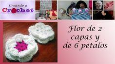 Flor de 2 capas de 6 petalos - Tutorial de tejido crochet